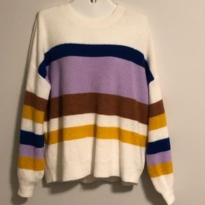 ❌NWT Express Multi-Striped Oversized Sweater~L❌